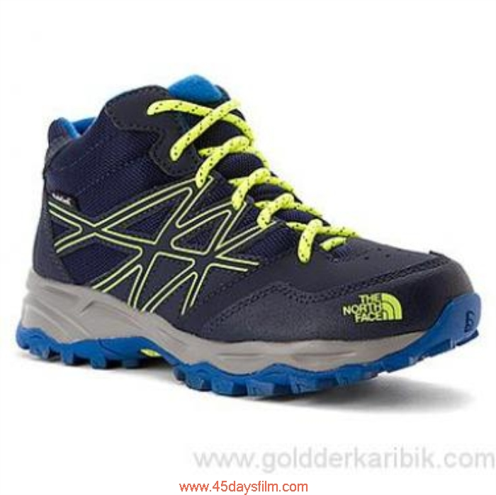 MAMN70991 Shop Cheap - 2016 Boys The North Face Reckon Hedgehog Hiker Mid WP Cosmic Yellow Shoes Size115253(US) Blue/Dayglo BDGUVZ1346