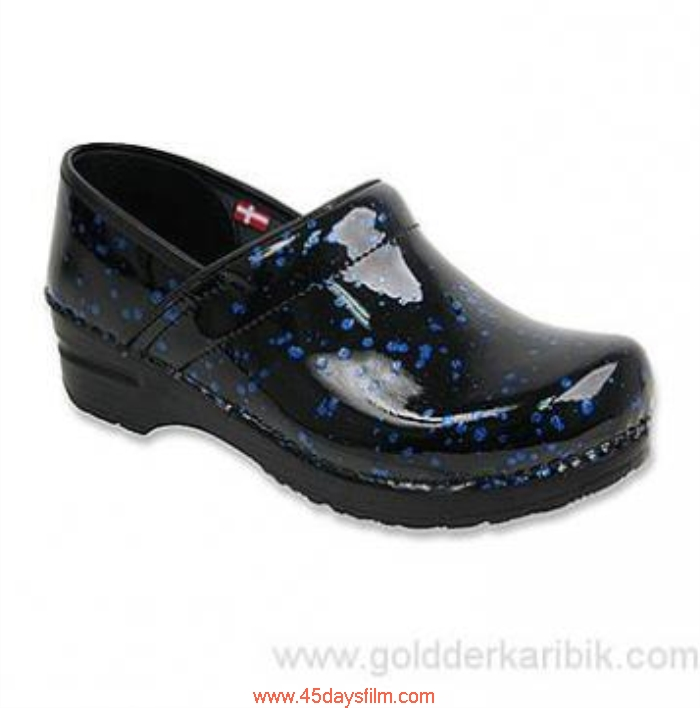 NWZO3028616 Shop Cheap - 2016 Womens Sanita Flexible Closed-Back Misfit Blue Speckle Points Shoes Printed Size556578859510111213(US) Patent Leather CJLOPUW389