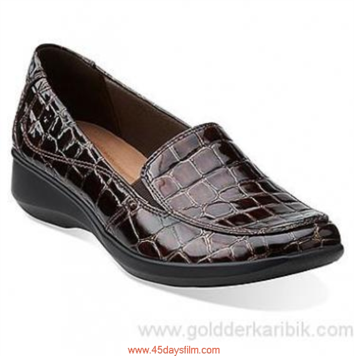 SRQD9015831 Shop Cheap - 2016 Respective Womens Clarks Gael Angora Croco Size556578859510111213(US) Shoes Synthetic Brown BEFMOPQSUY