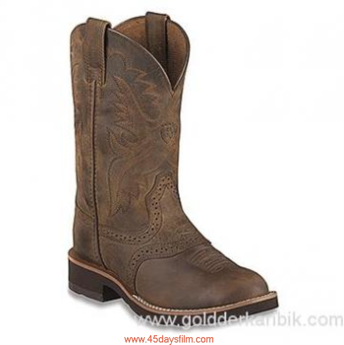 BWPZ001092 Shop Cheap - 2016 Attribute Boys Ariat Heritage Shoes Size115253(US) Brown/Chocolate Crepe Distressed DGMOPST079