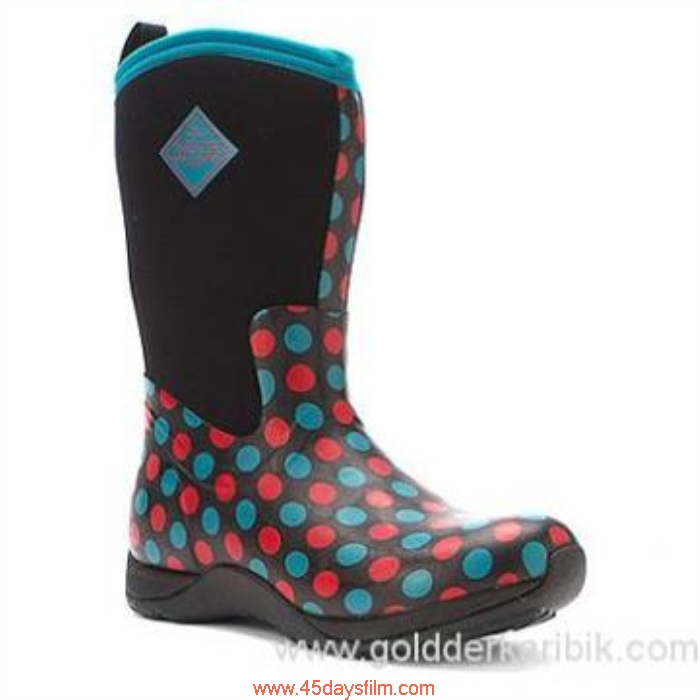OEWF9030305 Shop Cheap - 2016 Womens The Original Muck Boot Company Arctic Weekend Red  Dot Polka Blue Shoes Devout Size556578859510111213(US) AFHLMTV068